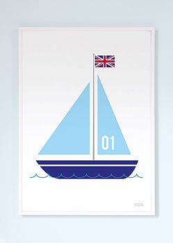 Sailing Boat Print No. One
