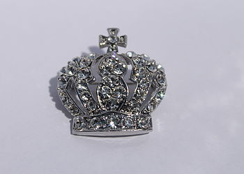 Royal Baby Diamante Brooch