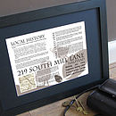 Personalised New Home House History Print - brown