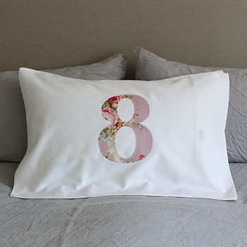 Personalised Number Pillowcase
