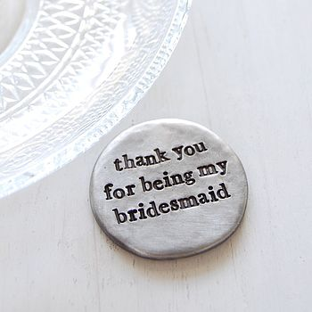 'Thank You' Bridesmaid Pocket Coin