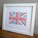 Bespoke Union Jack British Flag Art print