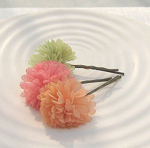 'Gossamer' Hair Clip Trio - bridesmaid accessories