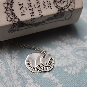 Personalised Family Disc Necklace