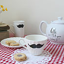 Vintage Hand Painted Moustache Teacup
