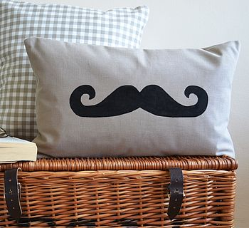 Handlebar Moustache Cushion