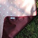 Pink Polka Dot Picnic Blanket