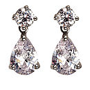 Brilliant Cut Peardrop Crystal Earrings