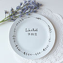 Personalised Hand Illustrated Wedding Plate