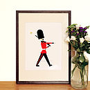 London Guard Silkscreen Print