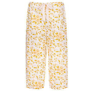 Camellia Cropped Pyjama Trousers - loungewear