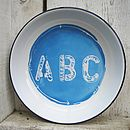 Hand Painted 'ABC' Enamel Plate