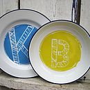 Personalised Hand Painted Initial Plate