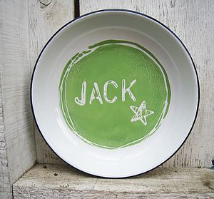 Personalised Hand Painted Enamel Name Plate - crockery & chinaware