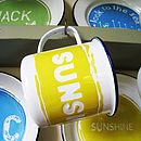 Hand Painted 'Sunshine' Enamel Mug