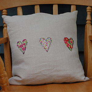Handmade Linen And Liberty Print Cushion - cushions