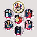 Set Of 18 Royalty Beer Mats