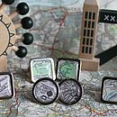 London Vintage Map Cufflinks