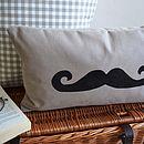 Handlebar Moustache Cushion