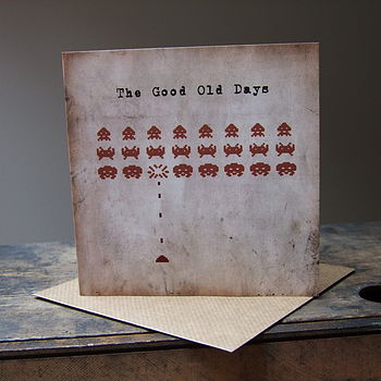 'The Good Old Days' Greeting Card