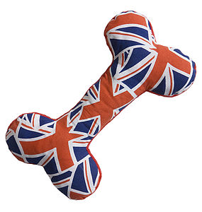 Union Flag Bone Toy - dogs