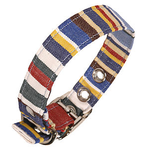 Handmade Fabric Collars - walking