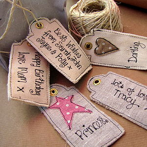 Personalised Stars And Hearts Tags - other labels & tags