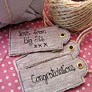 Personalised Stars And Hearts Tags