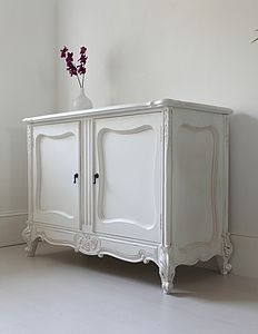 Two Door White French Sideboard - dressers & sideboards