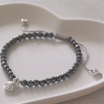 Personalised Hematite Friendship Bracelet