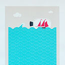 At Sea Silkscreen Print