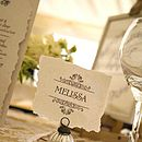 Vintage Style Wedding Table Place Card