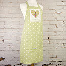 Personalised Spotty Apron