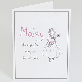 Personalised 'Thank You Flower Girl' Card