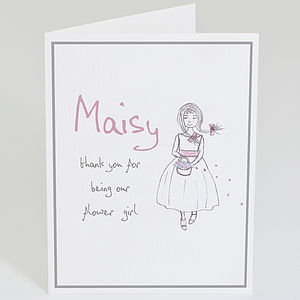Personalised 'Thank You Flower Girl' Card - shop by category