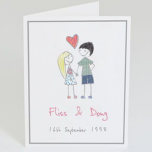 Personalised Couple Card - wedding, engagement & anniversary cards