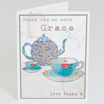 Personalised 'Tea Time' Card