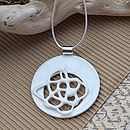 Aphrodite Porcelain And Silver Necklace