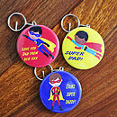 Personalised Superhero Opener Key Ring