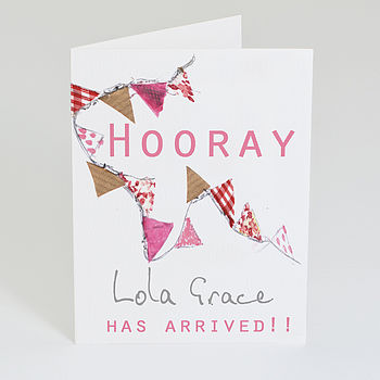Personalised New Baby Announcement Card