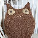 Knitted Alpaca Owl Cushion