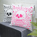'Forever the Rebel' Tattoo Print Cushion