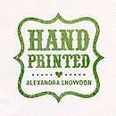 'Hand printed' stamp on reverse