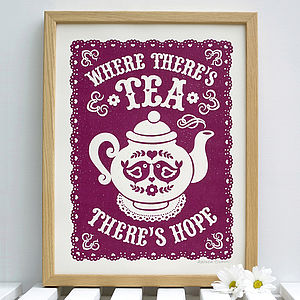 Tea Print - food & drink