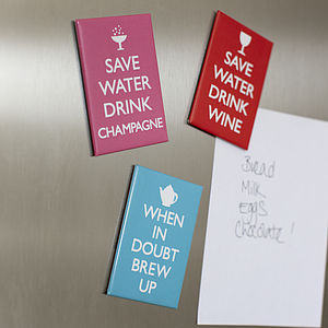 Set Of Three 'Wise Words' Fridge Magnets - kitchen