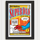 Personalised Super Dad Print