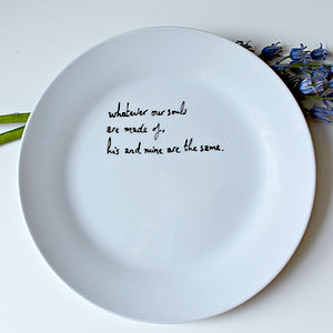 Wuthering Heights Hand Drawn Plate - literary inspired gifts