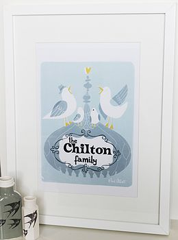 Personalised Brighton Family Portrait Print