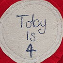 Birthday Fabric Rosette Badge Personalised