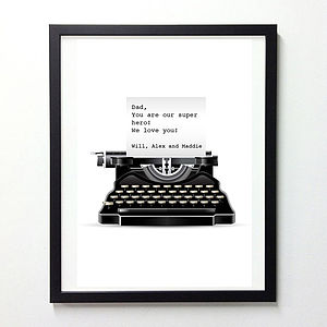 20% OFF Personalised Typewriter Art Work
